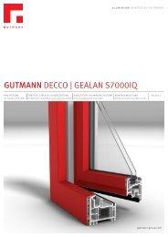 GUTMANN DECCO   GEALAN S7000IQ - Gutmann AG