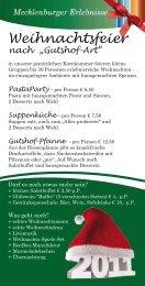 Flyer Weihnachtsfeier Download - Gutshof Bastorf