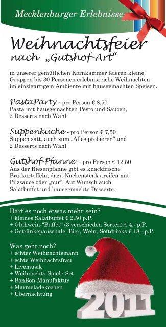 Spiele Weihnachtsfeier.Flyer Weihnachtsfeier Download Gutshof Bastorf