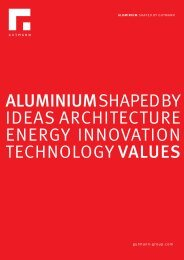 aluminium shaped by ideas architecture energy ... - Gutmann AG