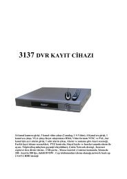 3137 dvr kayıt cihazı