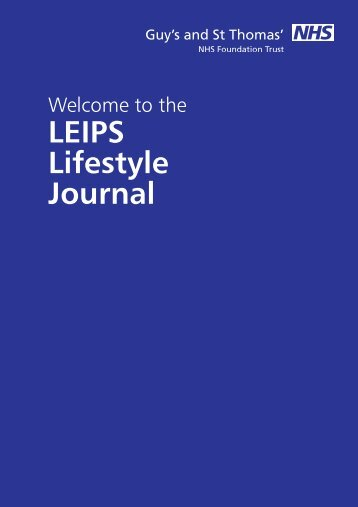 LEIPS Lifestyle Journal - Guy's and St Thomas'