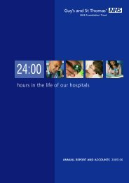 2005-2006 annual report - Guy's and St Thomas'