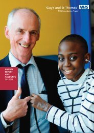 ANNUAL REPORT AND ACCOUNTS 2010|11 - Guy's and St Thomas'