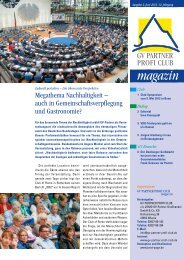 Megathema Nachhaltigkeit - GV-Partner Akademie