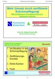 Mehr Umsatz durch zertifizierte Schulverpflegung - GV-Partner ...