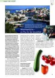 Mittelmeerküche – ein Plus für die Gesundheit - GV-Partner Akademie
