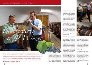 Weinexperte trifft Winzer - GV-Partner Akademie