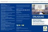 Einladungsflyer zum Symposium - GV-Partner Akademie