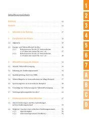 Inhaltsverzeichnis - GV-Partner Akademie