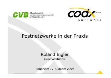 Postnetzwerke in der Praxis - GVB eV