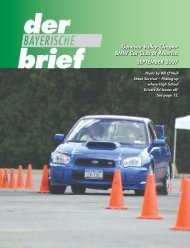 September - Genesee Valley Chapter BMW CCA
