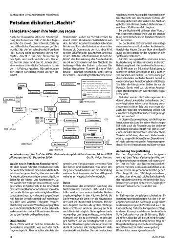 "Potsdam diskutiert ""Nacht+"" – Verkehrskonzept des ViP - GVE-Verlag"