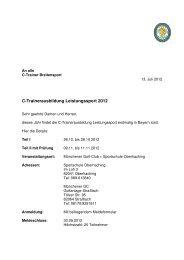 Einladung C-Trainer Leistungssport