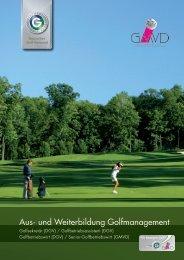 Aus- und Weiterbildung Golfmanagement - GMVD