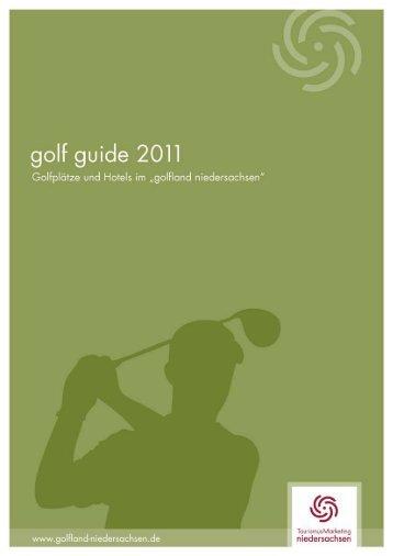 """Broschüre """"Golfland Niedersachsen 2011"""" - Golf-Verband ..."""