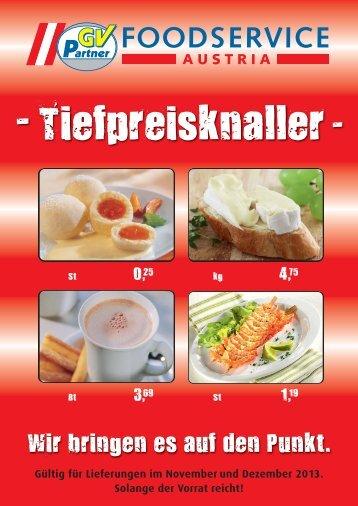 Tiefpreisknaller - GV-Partner Foodservice Austria