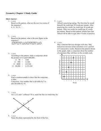 Geometry Homework Worksheets: Chapter 2 HW#6 ... - Teacher