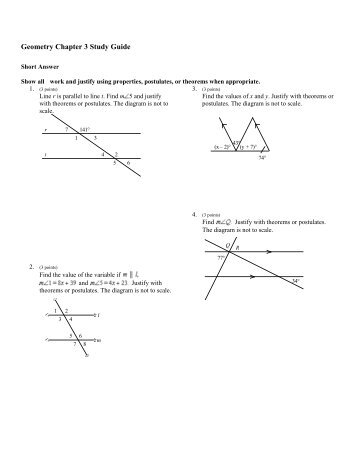 GEOMETRY STUDY GUIDE – CHAPTER 8