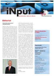 iNPUT September 2005 - Gewerbeverband Uster