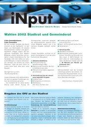 iNPUT Februar 2002 - Gewerbeverband Uster