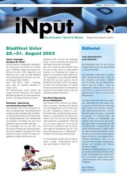 iNPUT Dezember 2002 - Gewerbeverband Uster