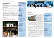 iNPUT Dezember 2009 - Gewerbeverband Uster