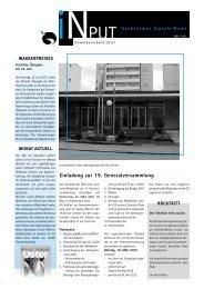 iNPUT März 2001 - Gewerbeverband Uster