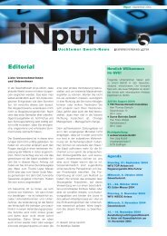 iNPUT September 2004 - Gewerbeverband Uster