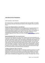 Jahresbericht des Präsidenten - Gewerbeverband Uster