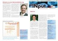 iNPUT Dezember 2007 - Gewerbeverband Uster