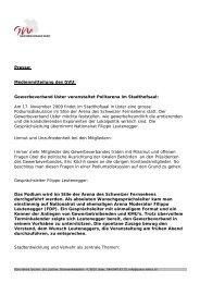 Presse: Medienmitteilung des GVU: Gewerbeverband Uster ...
