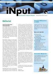 iNPUT Juni 2003 - Gewerbeverband Uster