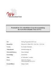 Protokoll der 30. ordentlichen Generalversammlung des ...