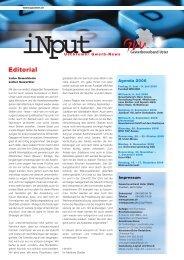 iNPUT Juli 2006 - Gewerbeverband Uster