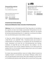Druckversion - Genossenschaftsverband Weser-Ems eV Oldenburg