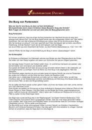Die Burg von Partenstein - Geschichtswerkstatt Partenstein