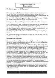 Mangan - Geschichtswerkstatt Partenstein