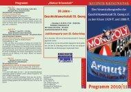 Programm 2010/11 - Geschichtswerkstatt St. Georg