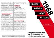 Kurzer Frühling – lange Wirkung - Geschichtswerkstatt St. Georg