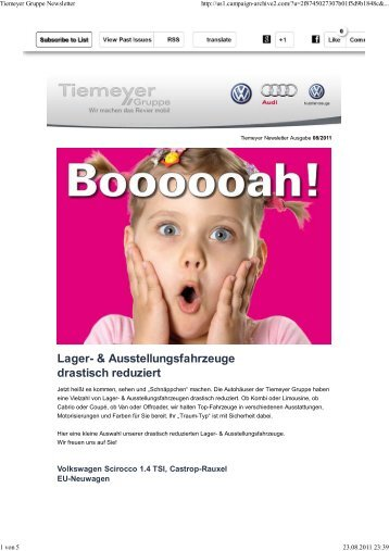Tiemeyer Gruppe Newsletter - GW-trends