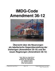 IMDG-Code Amendment 36-12 - verkehrsRUNDSCHAU.de