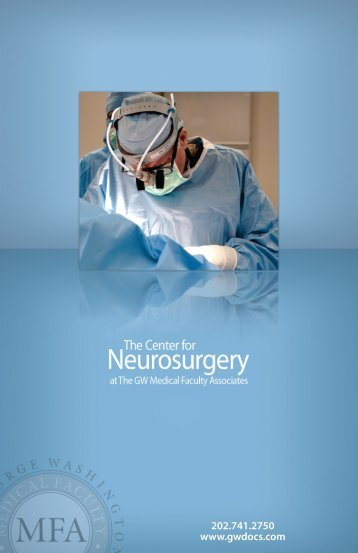 Neurosurgery Brochure.indd - GW Medical Faculty Associates