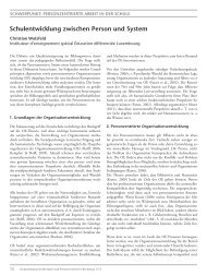 Schulentwicklung zwischen Person und System - GwG