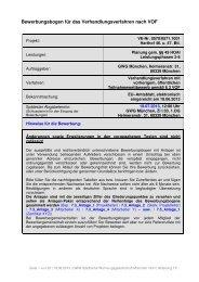 Bewerbungsbogen für das VOF-Verfahren: Harthof ... - GWG München