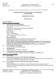 EU-Bekanntmachung Tragwerksplanung - GWG München