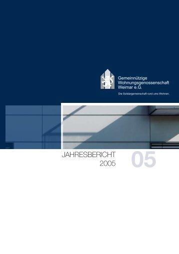 JAHRESBERICHT 2005 - GWG Weimar