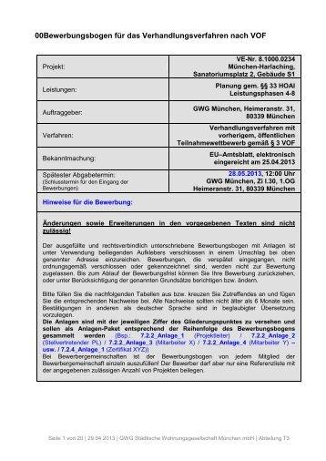 00Bewerbungsbogen für das ... - GWG München