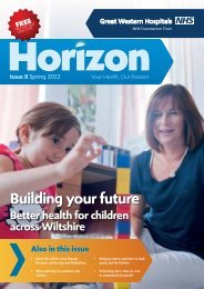 Horizon Spring 2012(PDF) - The Great Western Hospital
