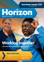 Working together - The Great Western Hospital
